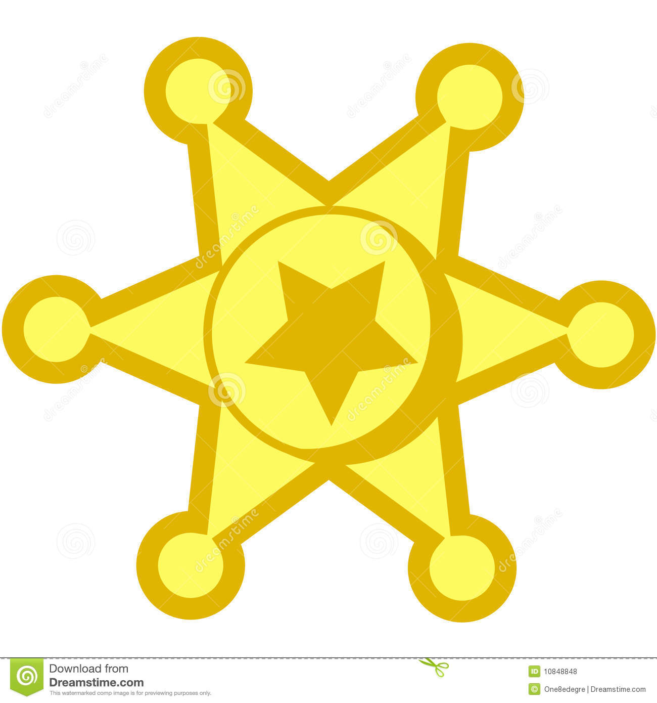 Cowboy Star Badge Royalty Free Stock Photos - Image: 10848848