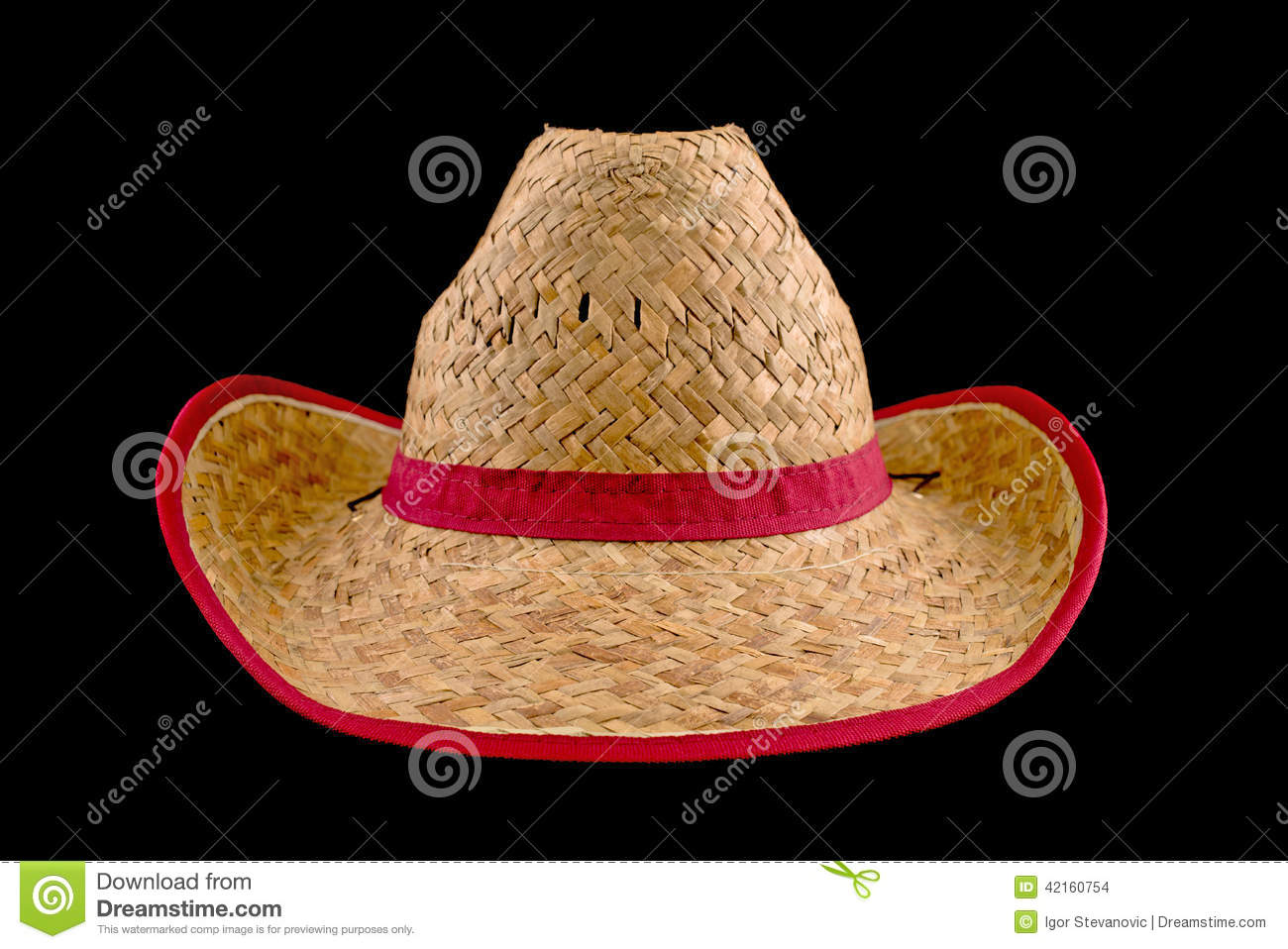 2b9409b7aa3 Cowboy straw hat stock photo. Image of vintage