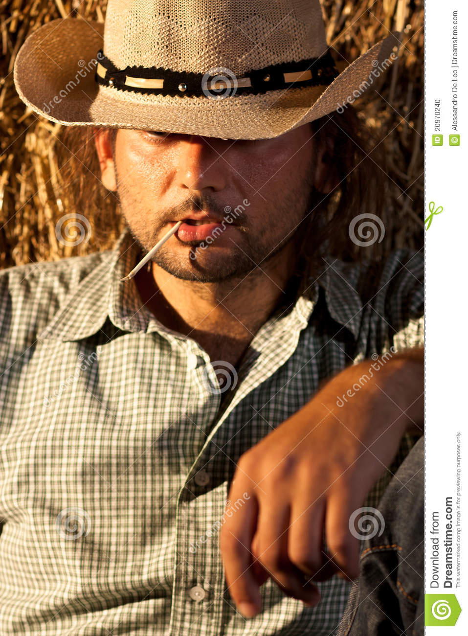 Cowboy with Straw in His Mouth