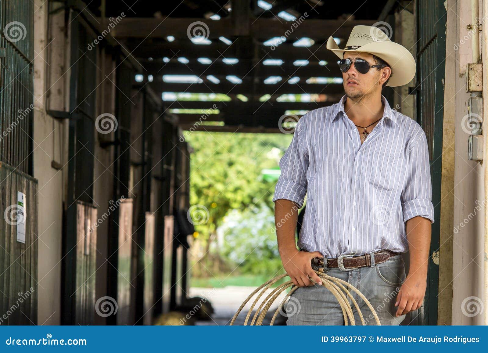 Cowboy sur l écurie