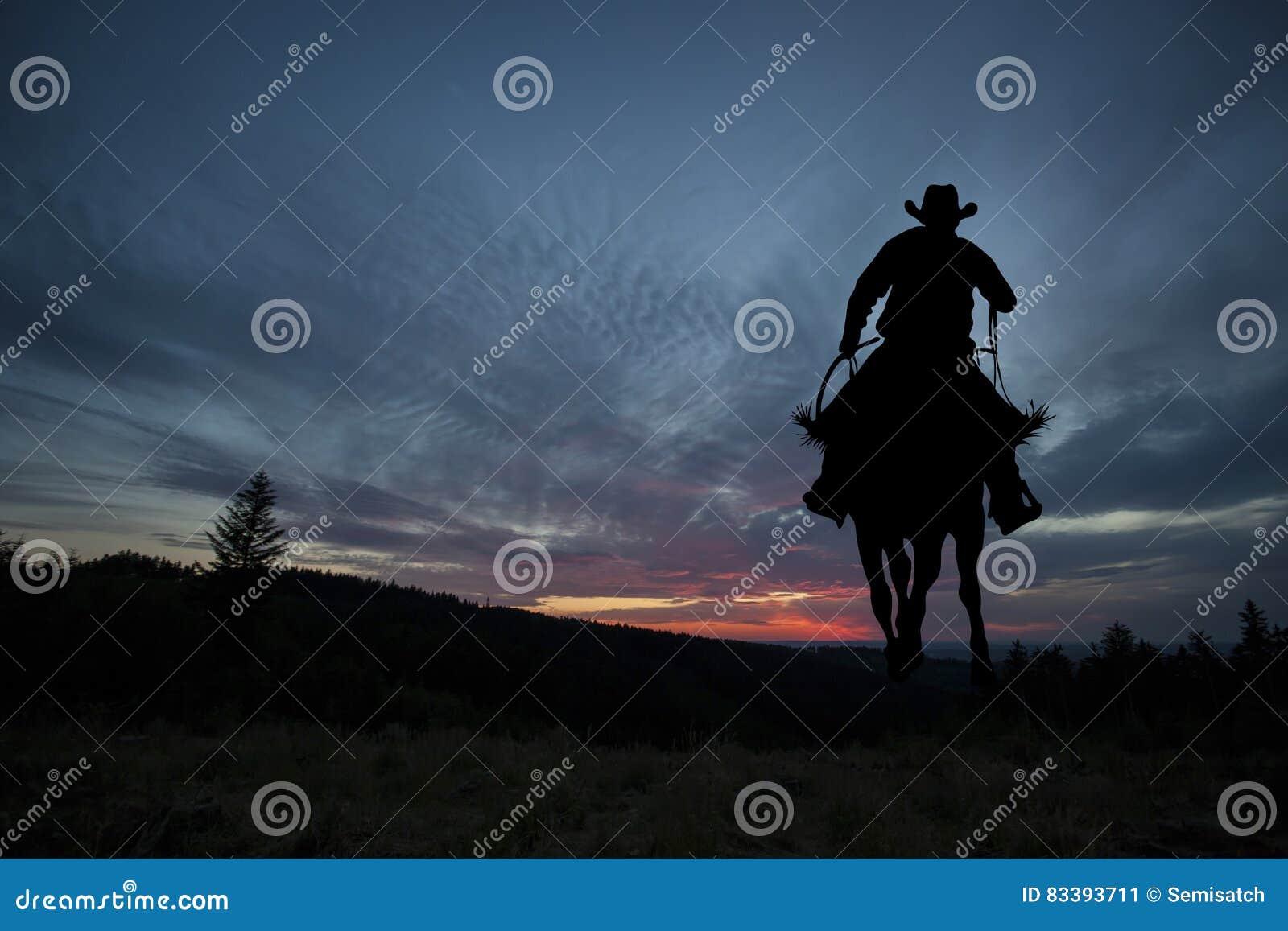 Cowboy sur un cheval