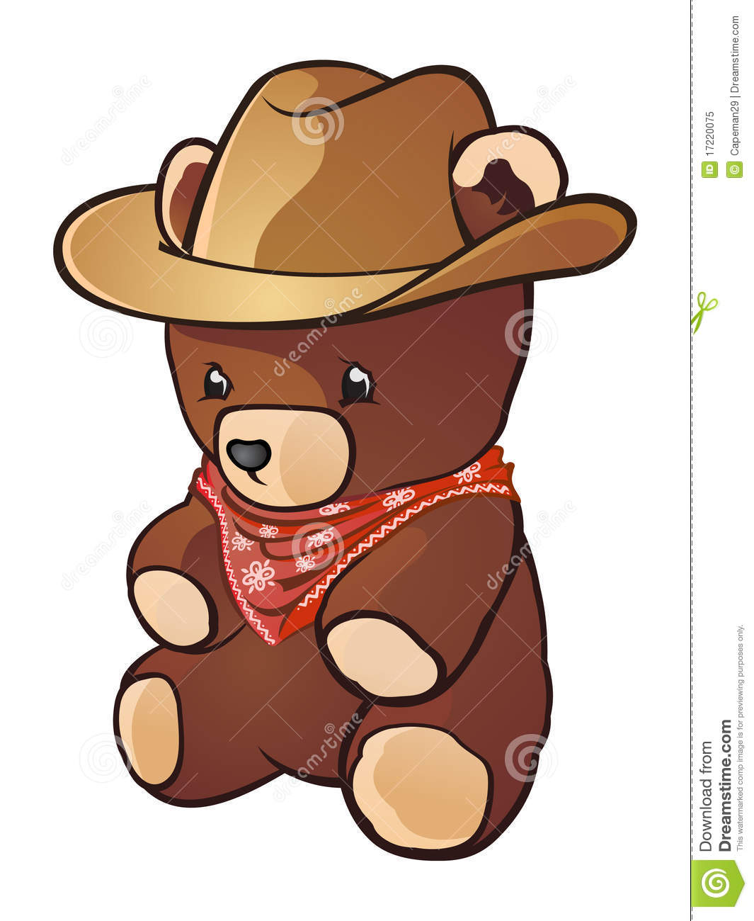Cowboy Teddy Bear stock vector. Image of charro, american ...