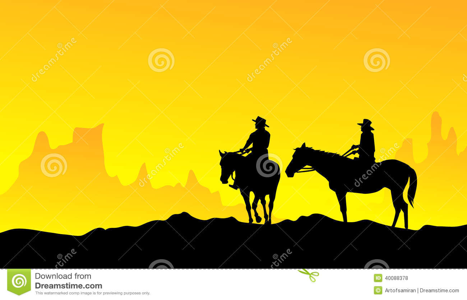 Cowboy vector - photo#28