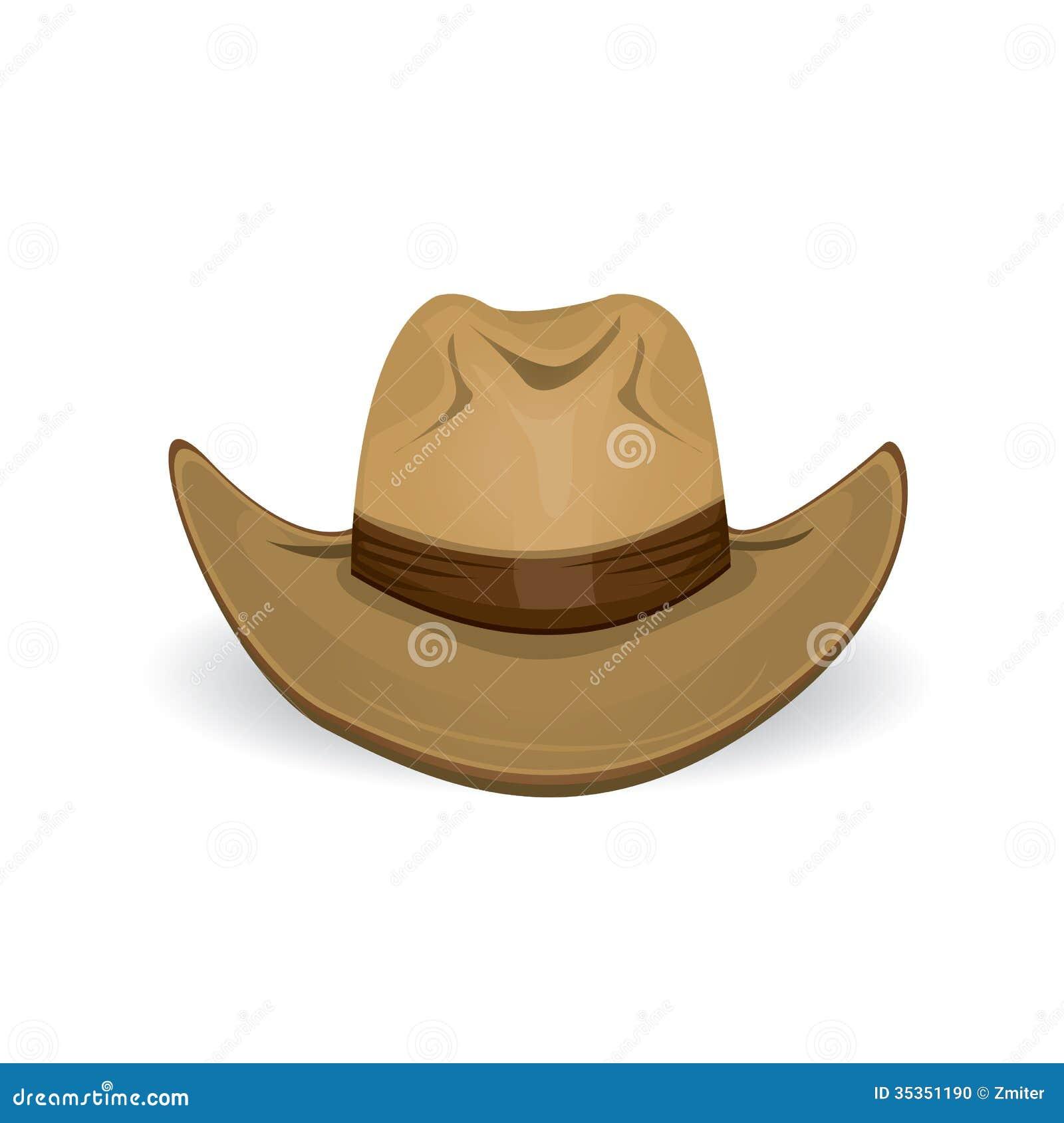 Cowboyhatt. vektorillustration.