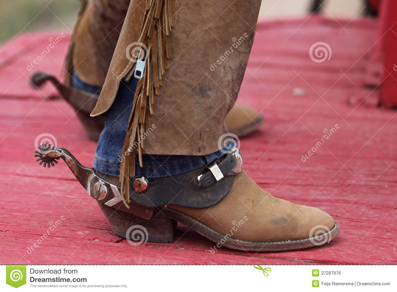 cowboys boots with spurs stock photo image of