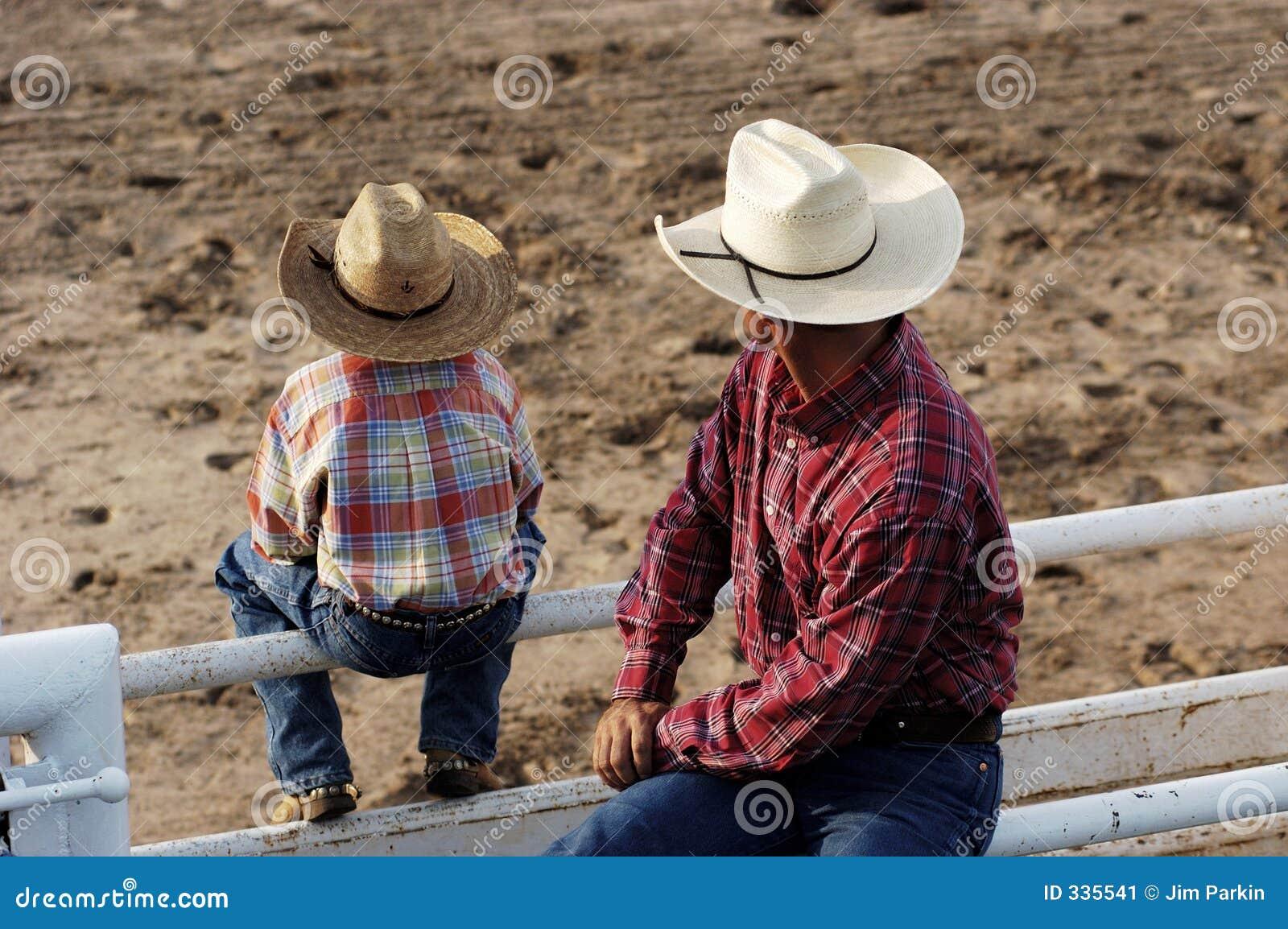 Cowboys, jeune et vieux