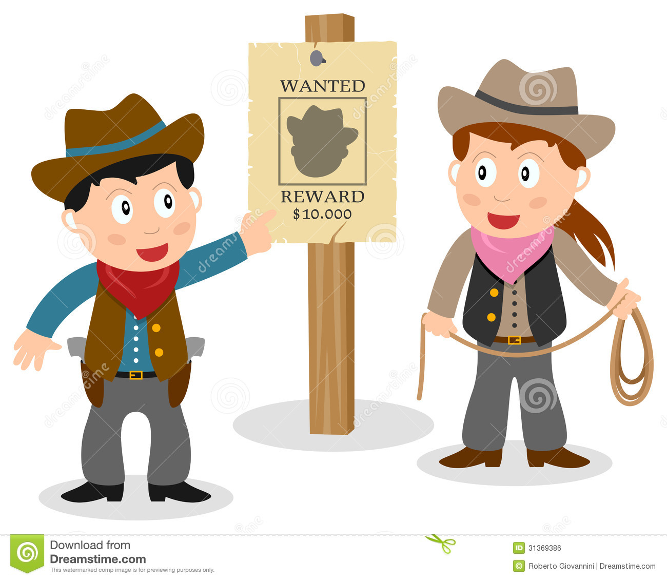 Cowboys Looking Wanted Poster Stock Vector - Illustration of design ...