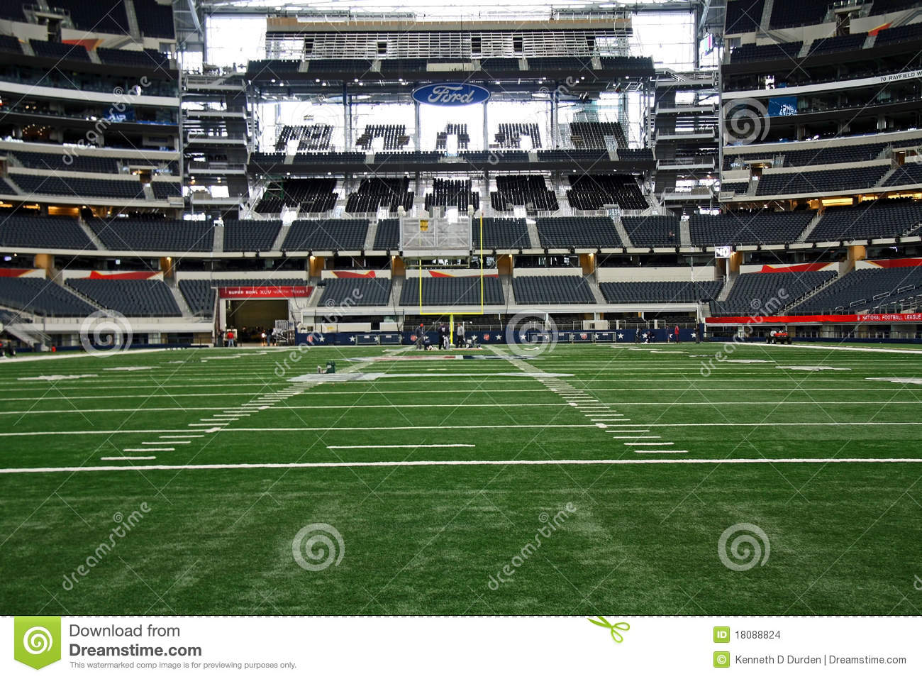 Cowboys Stadium From End Zone Editorial Stock Image