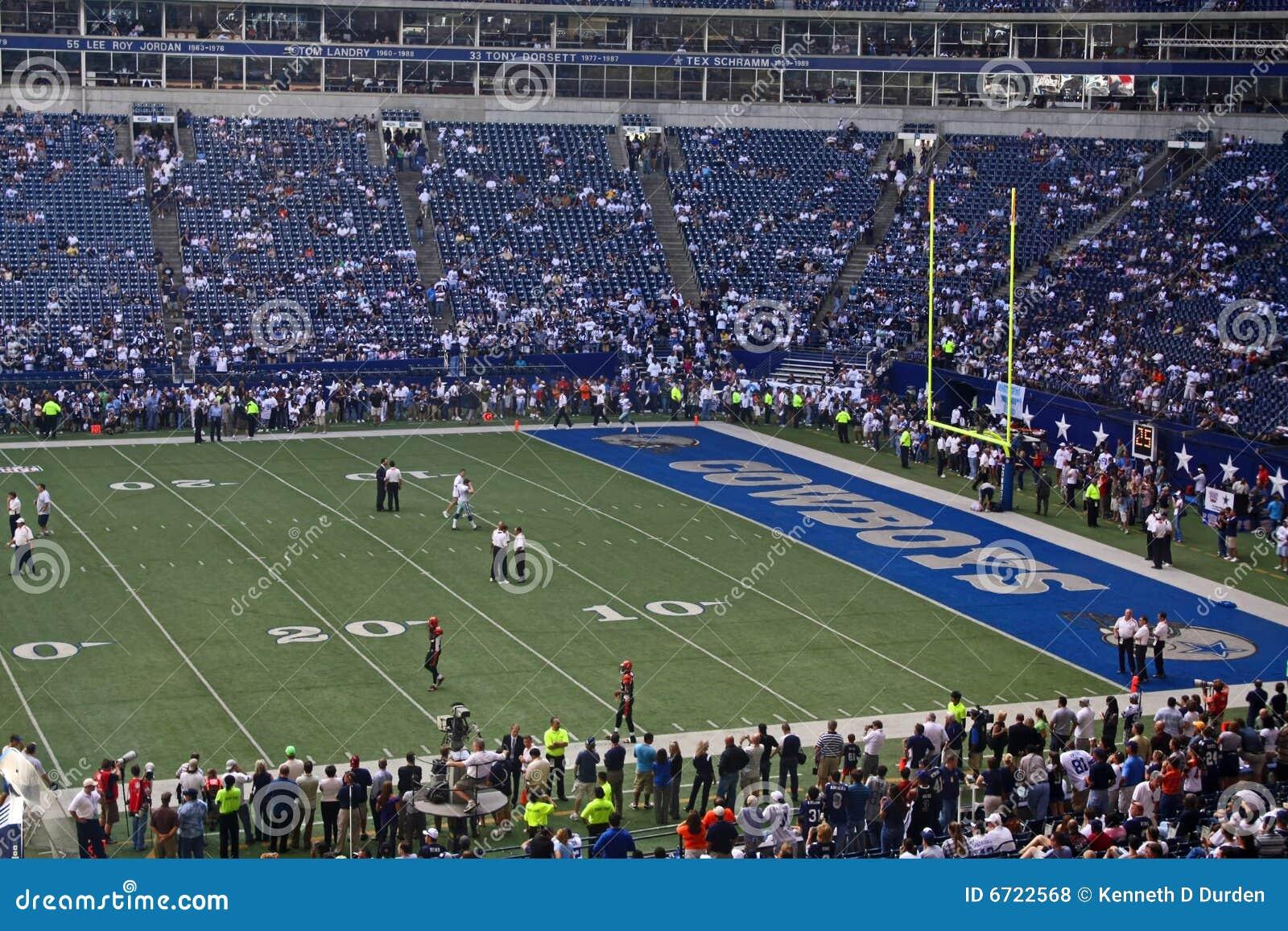 Cowboys Texas Stadium End Zone Editorial Stock Photo