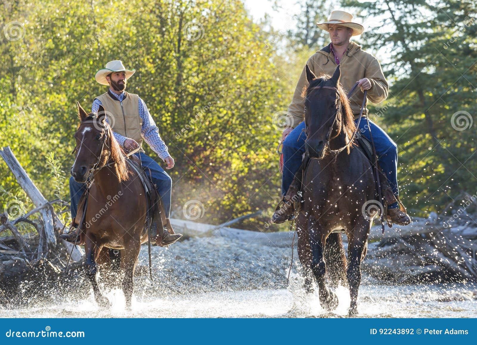 Cowboys u. Pferde