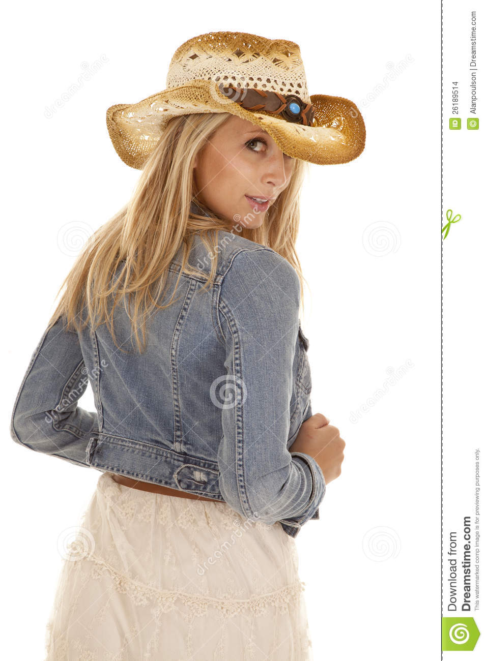 cowgirl back look jacket stock photo image of gorgeous