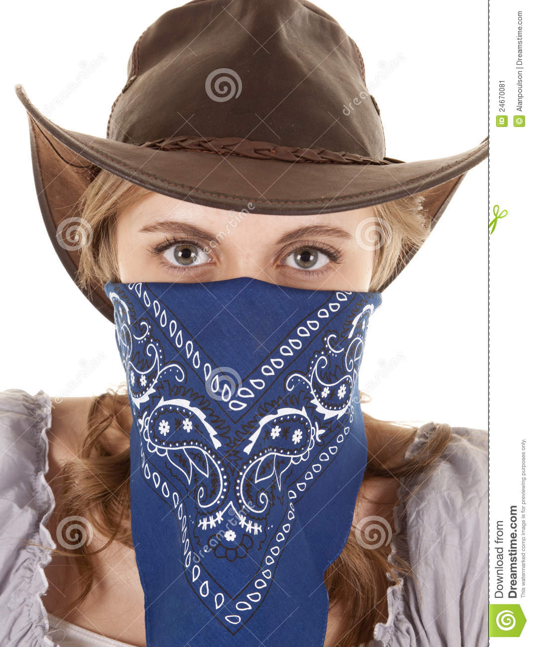 Cowgirl Bandana Looking Stock Image Of Hair Gorgeous