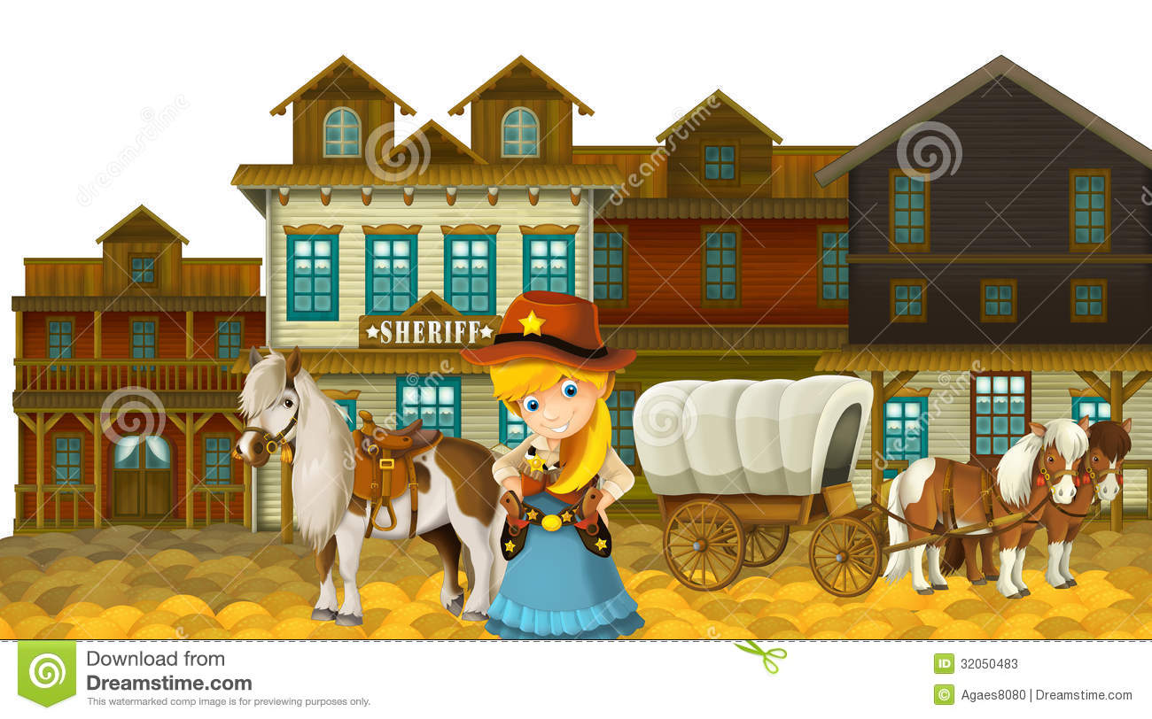 Young Teenage Girl In Wild West Outfit Embracing Her Horse
