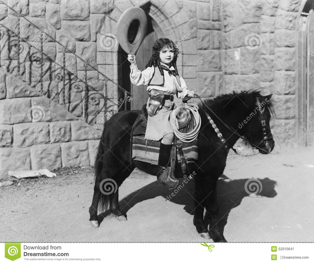 Cowgirl on pony