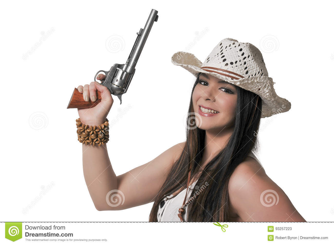c8f663499a2 Cowgirl with relvolver stock image. Image of country - 93257223