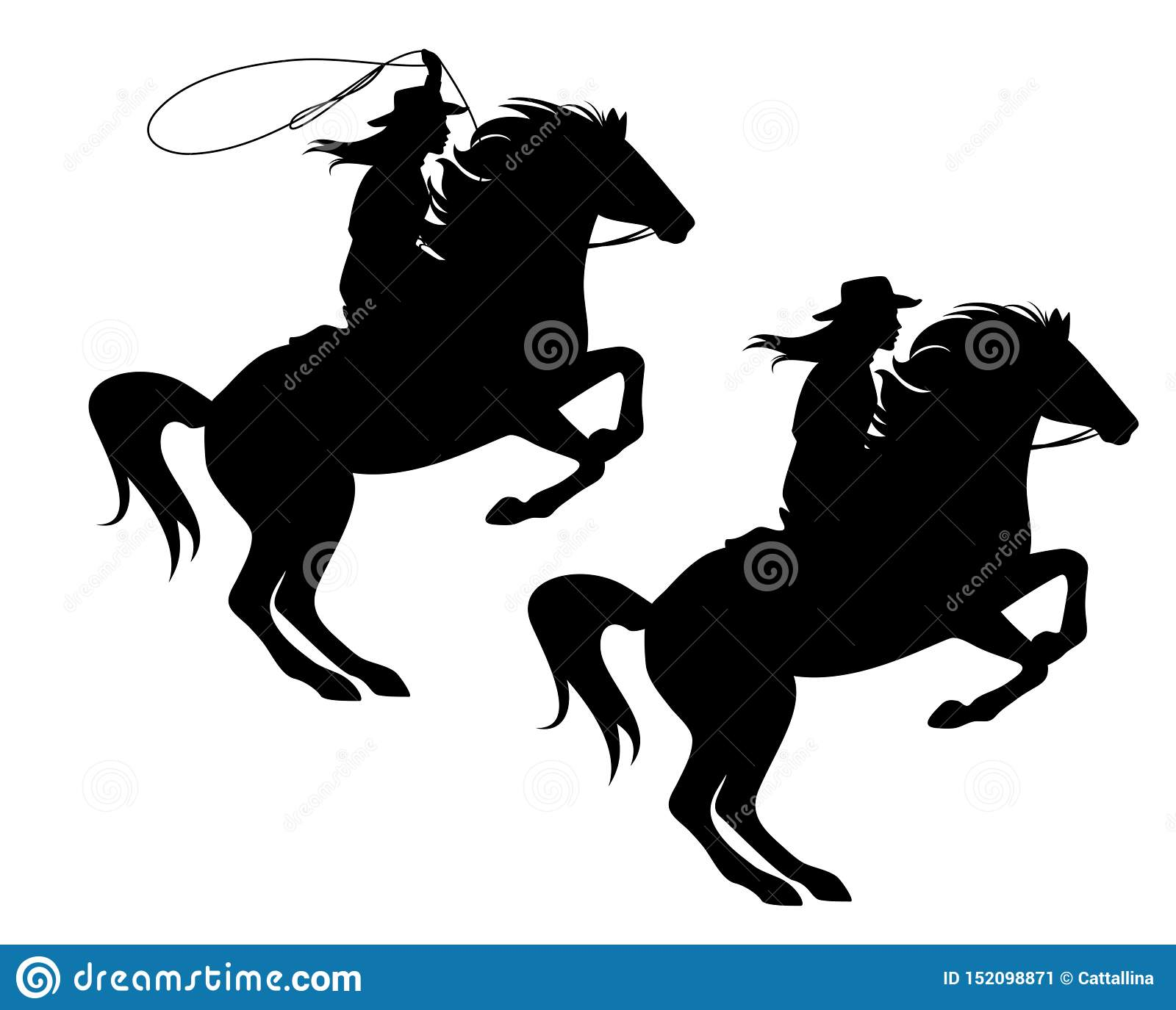 Cowgirl Silhouette Stock Illustrations 380 Cowgirl Silhouette Stock Illustrations Vectors Clipart Dreamstime
