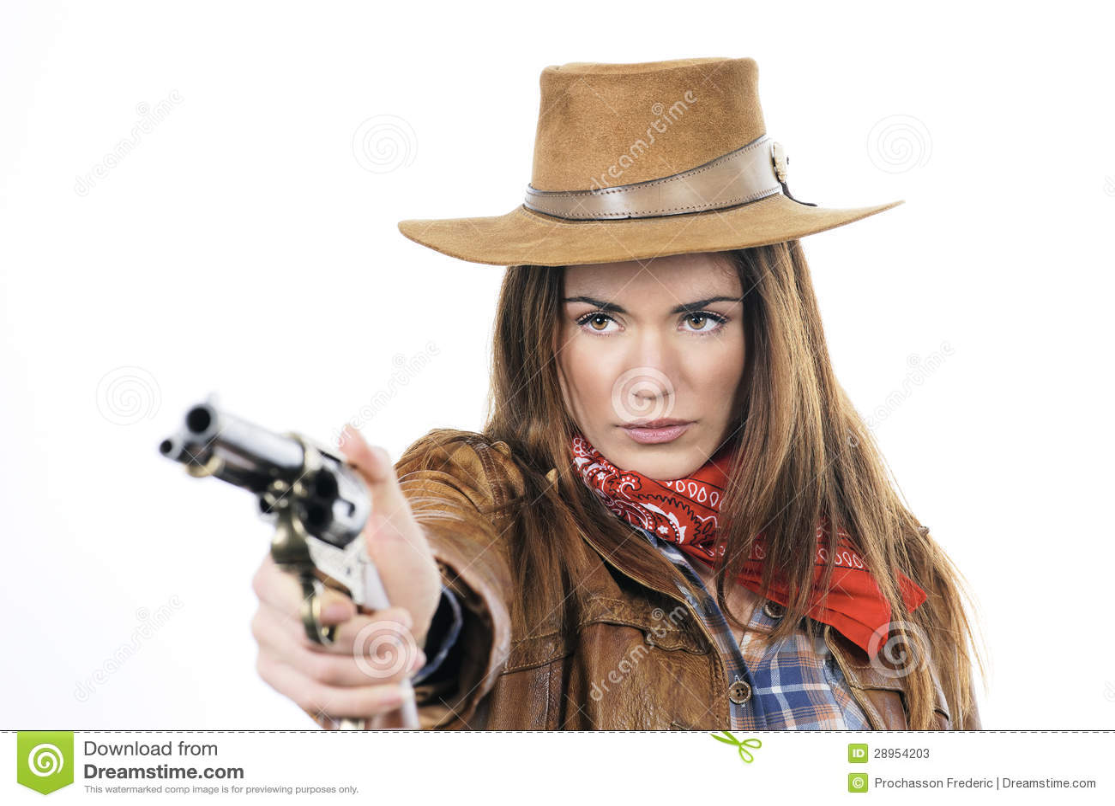 Cowgirl z pistoletem