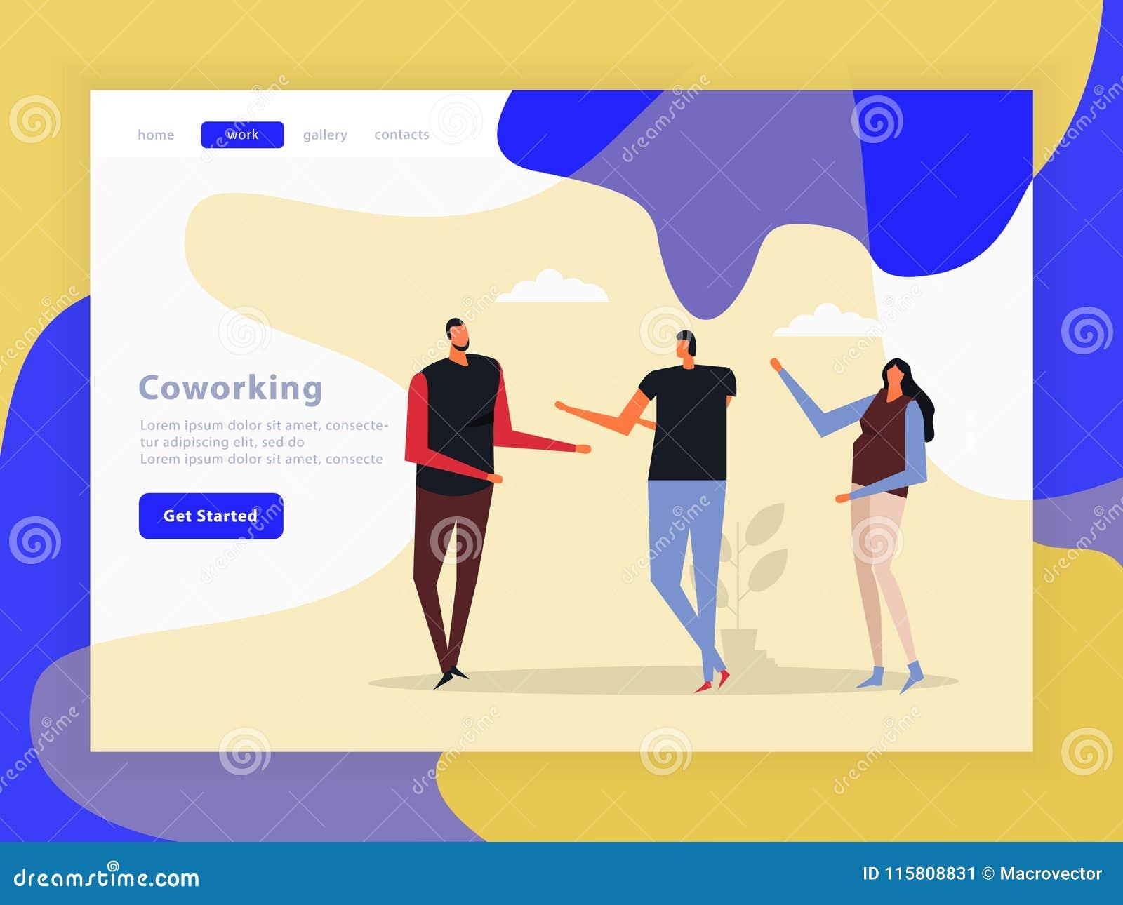 Coworking Team Landing Page créatif