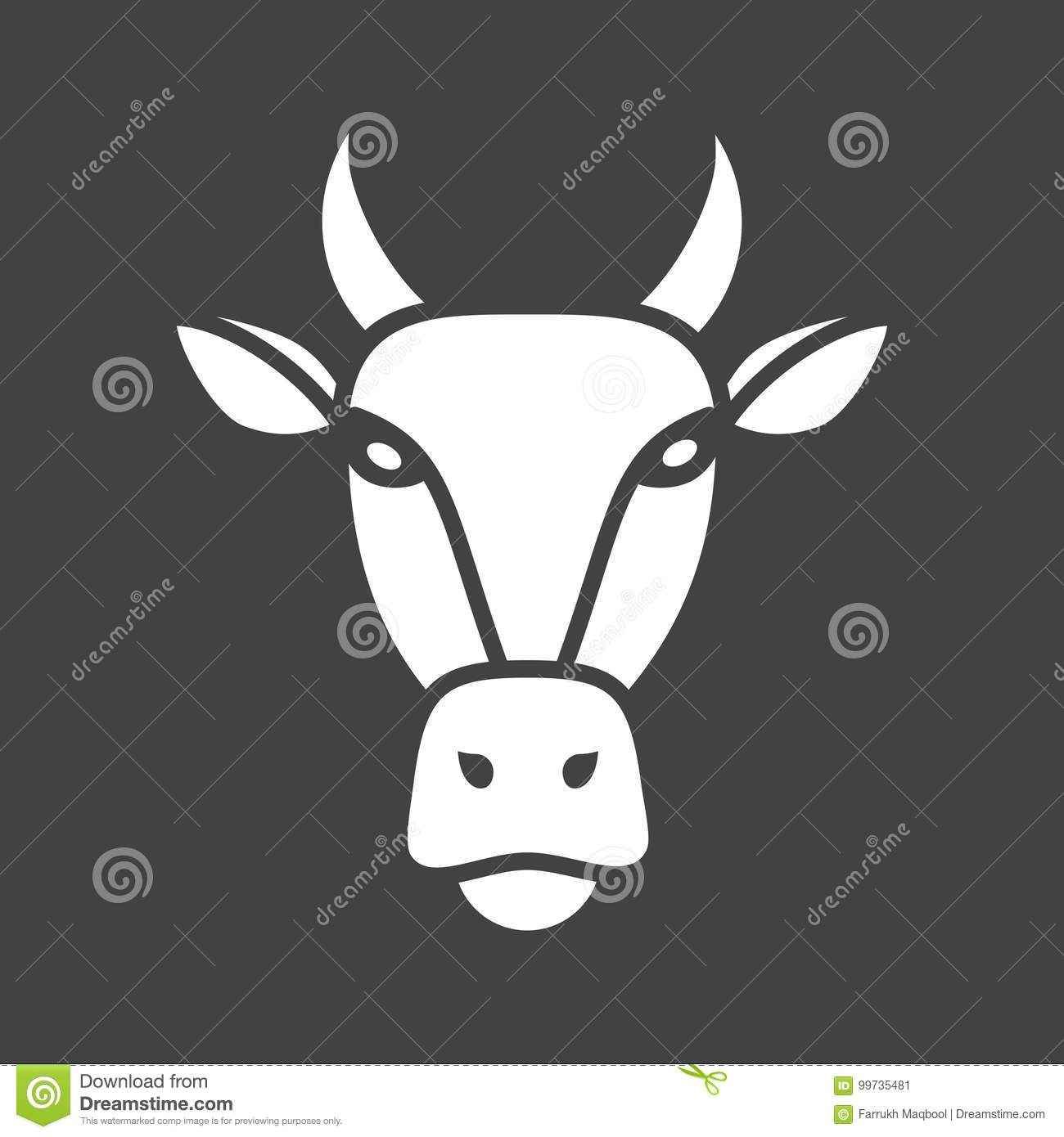 Cow Face Stock Vector Illustration Of Concept Grazing 99735481