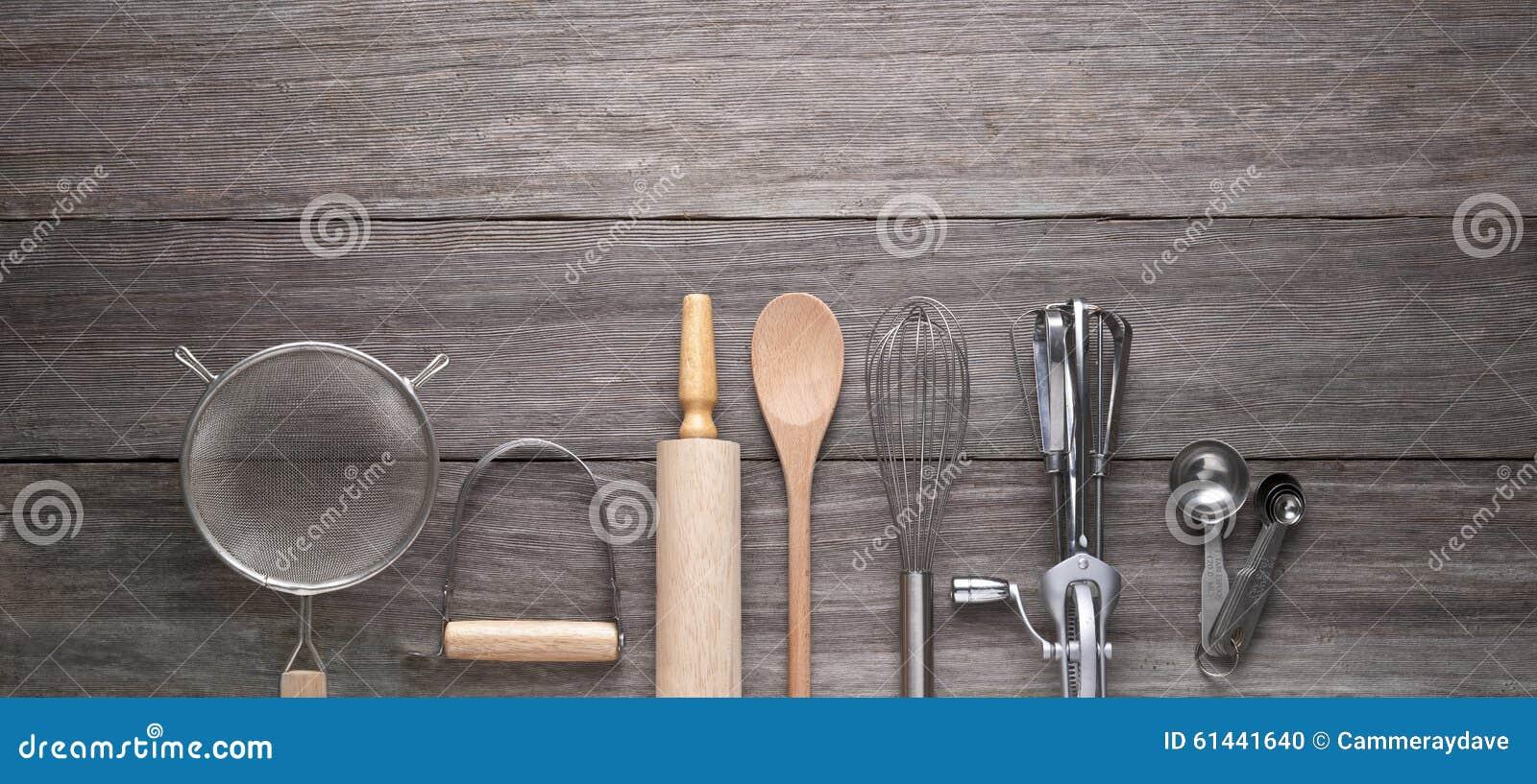 Cozimento cozinhando o fundo de madeira