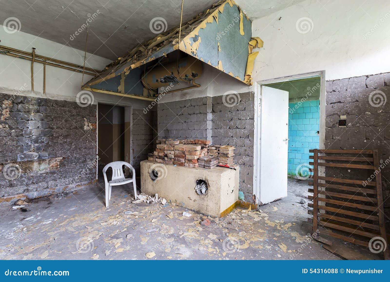 A Cozinha Abandonada Foto De Stock Imagem De Destrui O 54316088