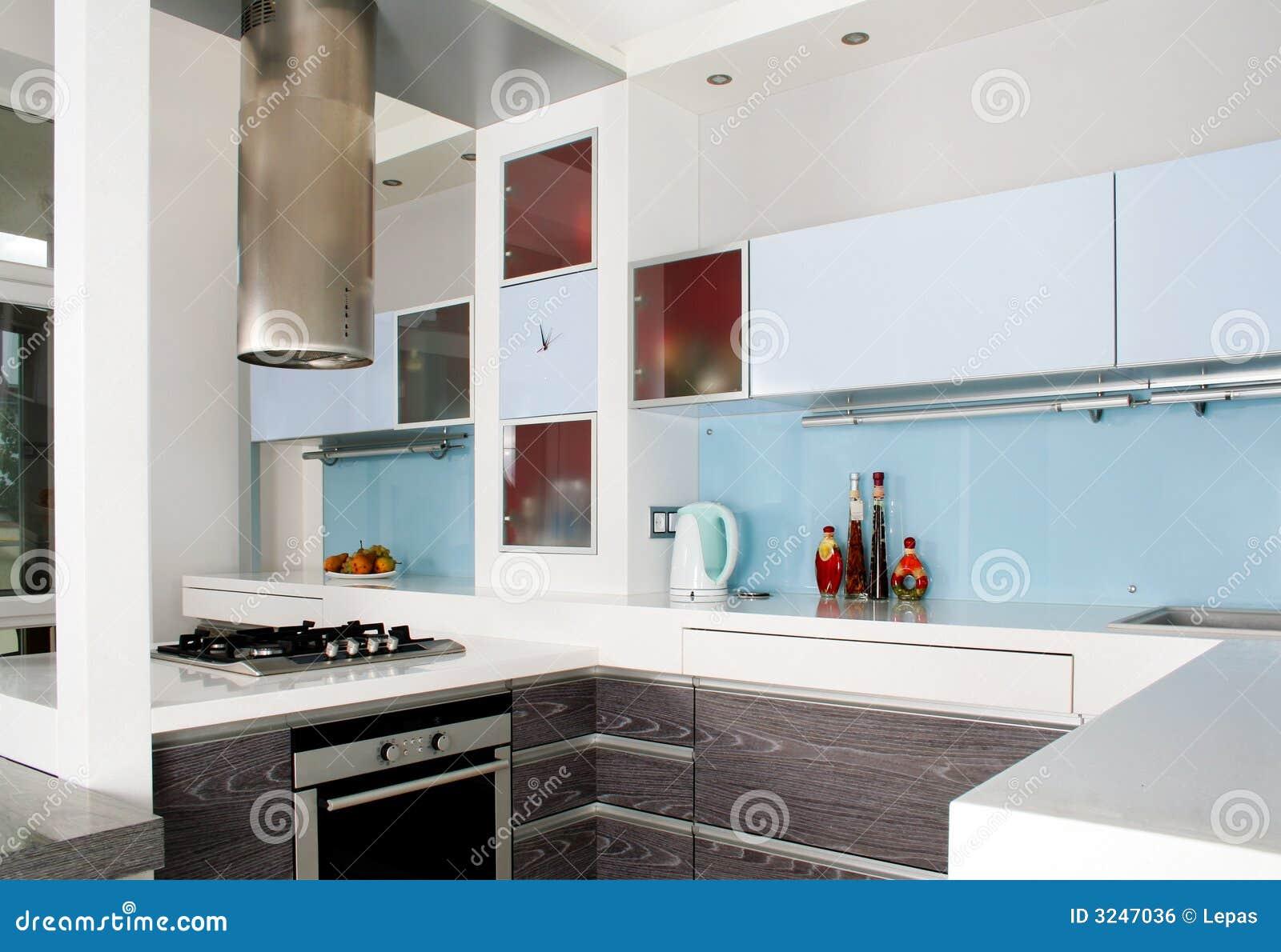 Cozinha Branca Moderna Foto De Stock Imagem De Residential 3247036