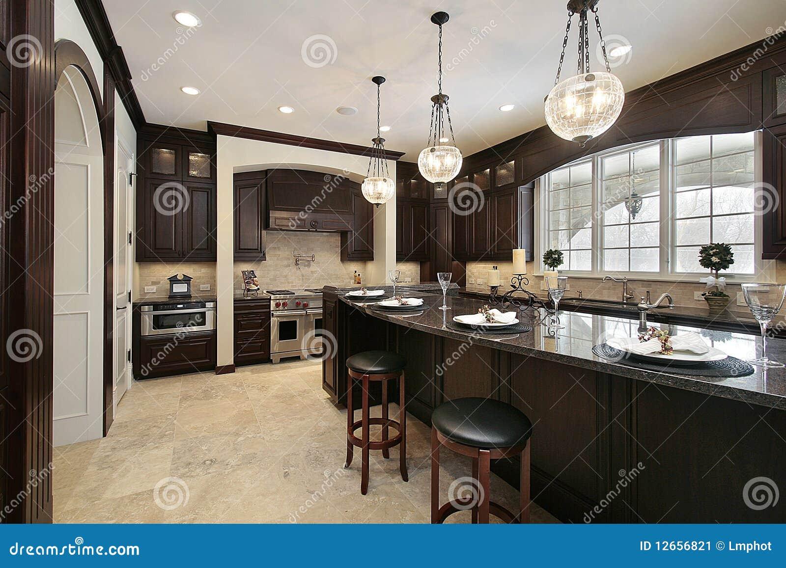 #85A922 Cozinha Com Console Do Granito Imagem de Stock Imagem: 12656821 1300x957 px Melhoria Home Da Cozinha_10 Imagens