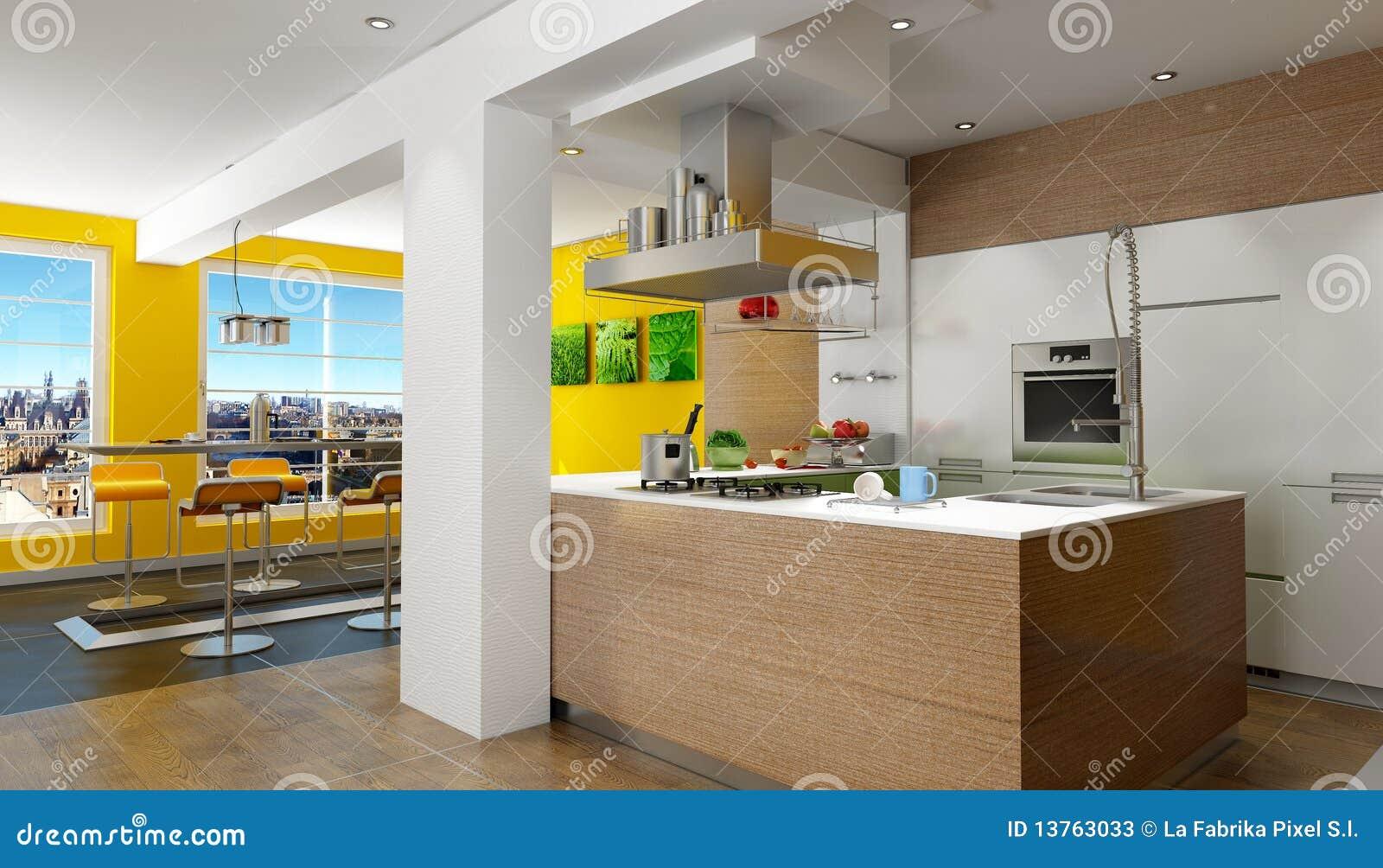Cozinha Da Sótão De Luxo Fotos de Stock Imagem: 13763033 #C2A309 1300 833