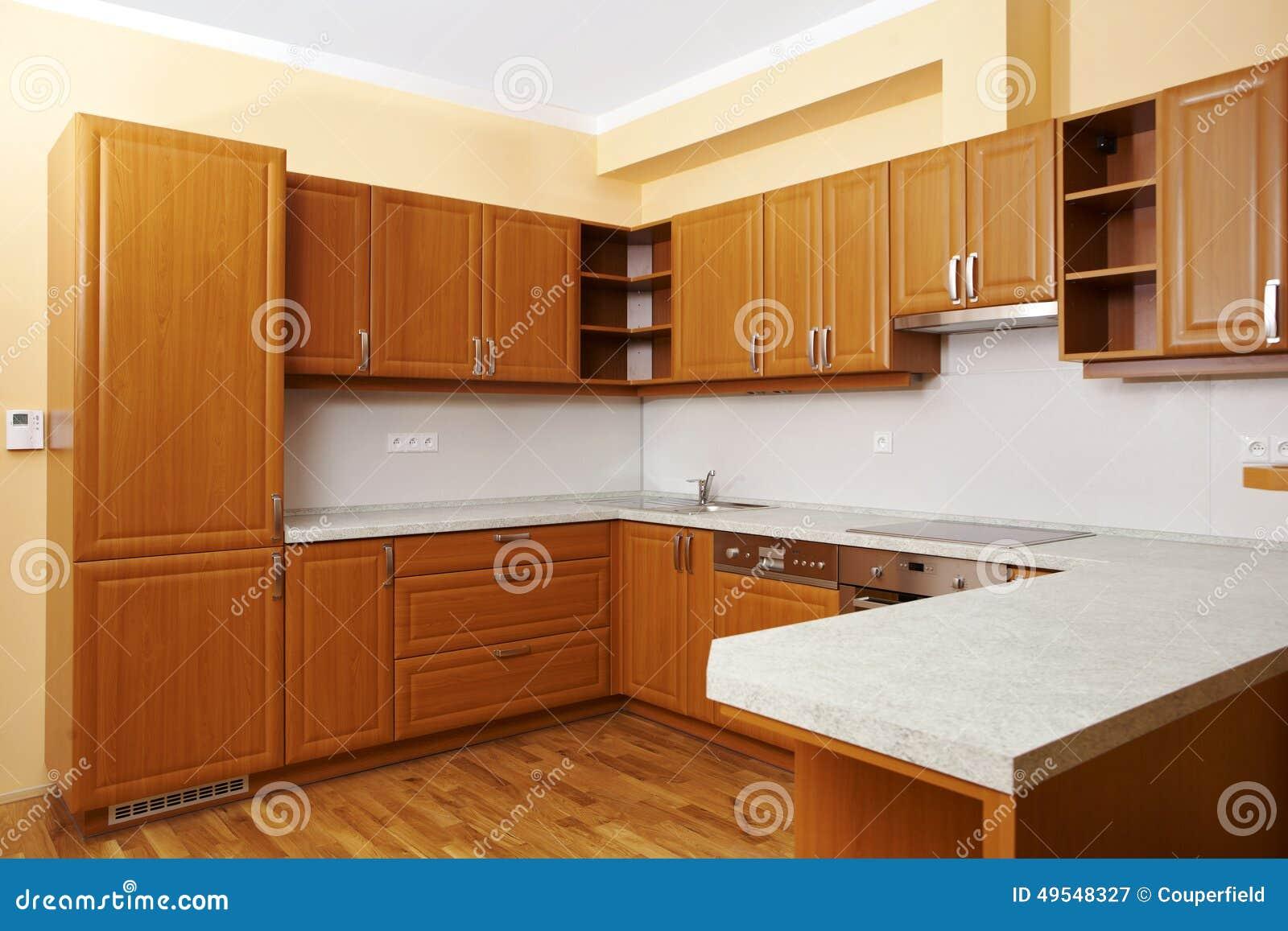 Cozinha De Madeira Moderna Imagem De Stock Imagem De Estilo 49548327