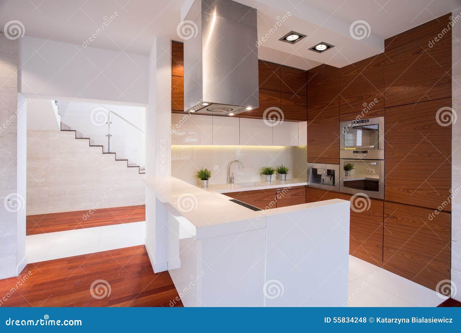 Cozinha De Madeira Moderna Foto De Stock Imagem De Home 55834248