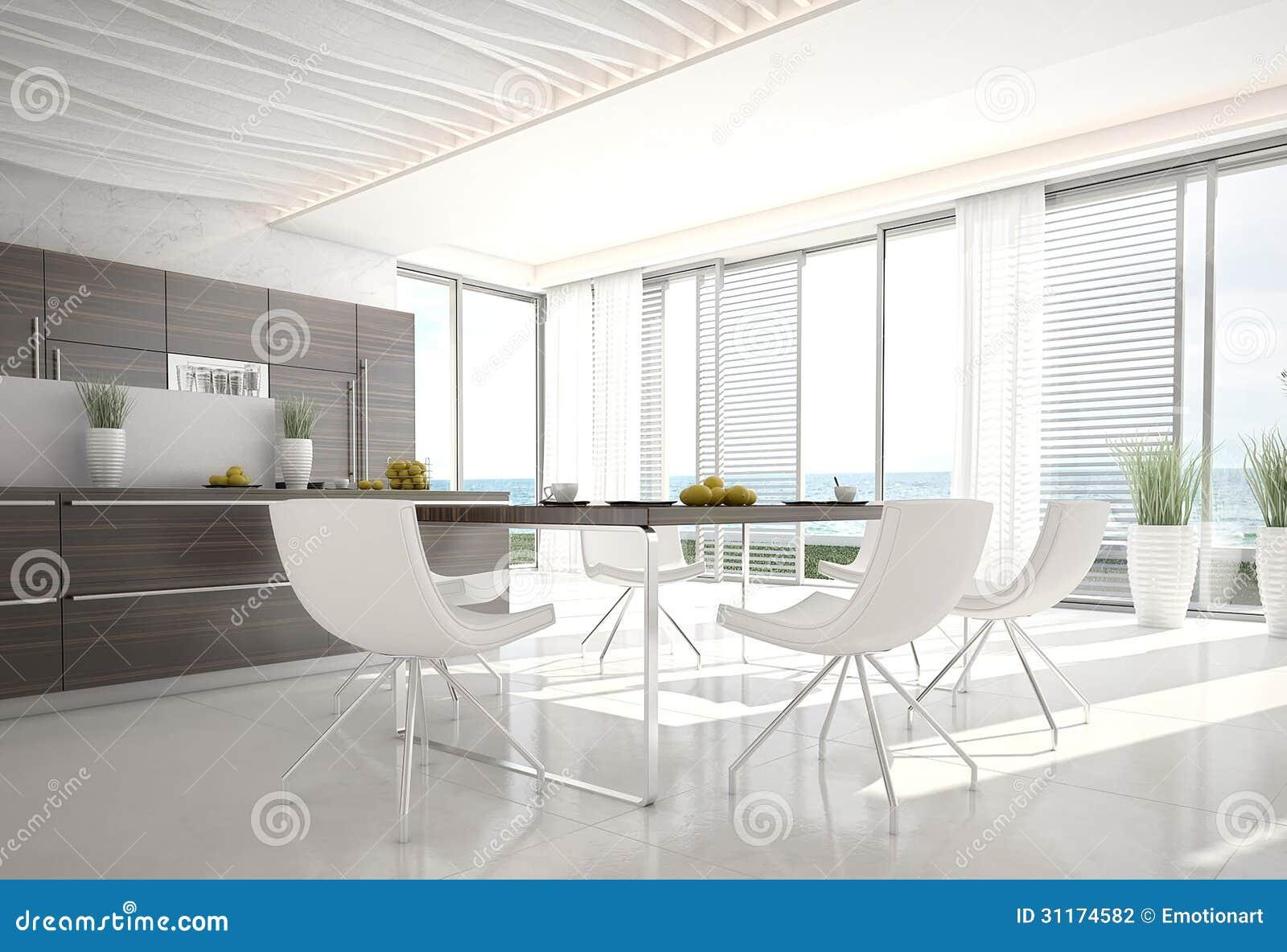 Cozinha Do Projeto Ultra Moderno Arquitetura Interior Fotografia de  #85A922 1300 979