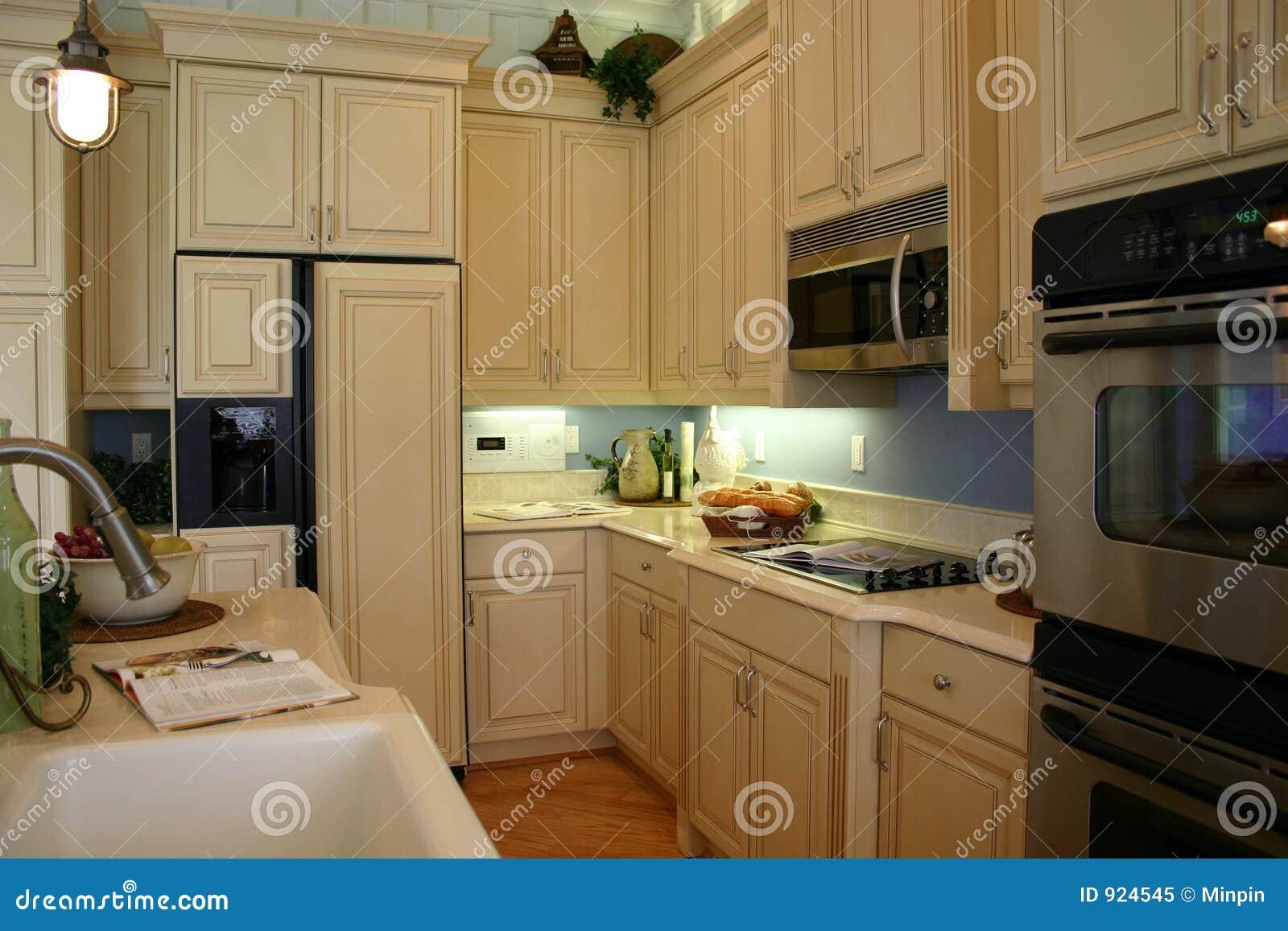 Cozinha eficiente moderna com os dispositivos elétricos do preto  #81A229 1300 957