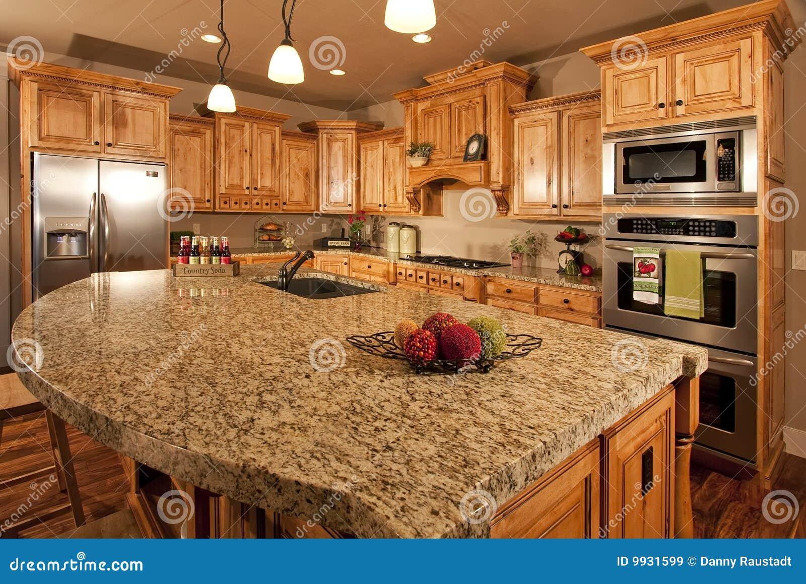 Cozinha Home com console Center #AF421C 1300 958