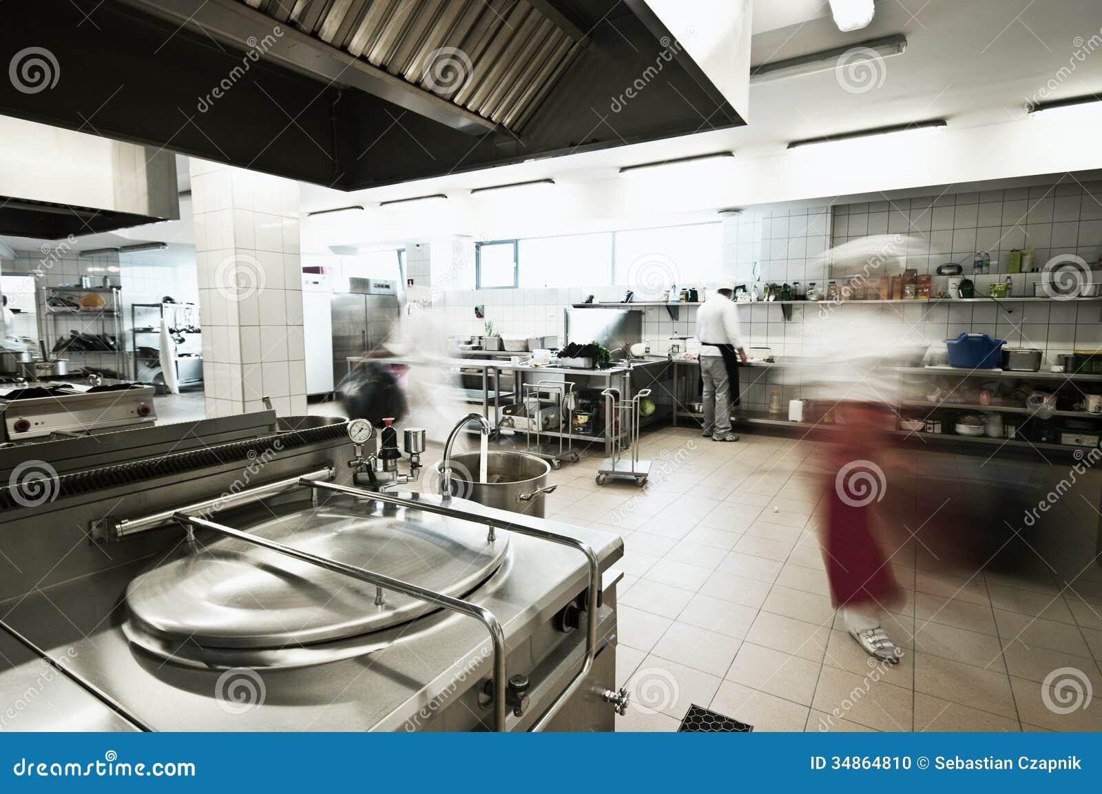 Cozinha Industrial Foto De Stock Imagem De Povos Alimento 34864810