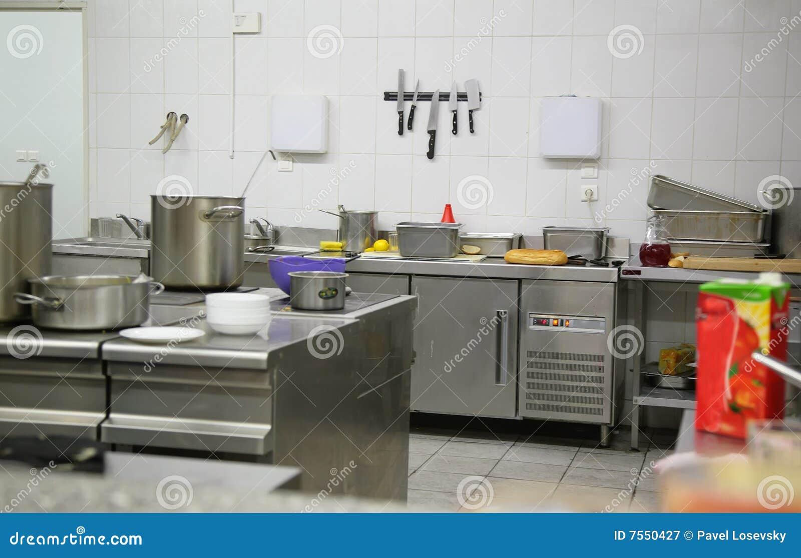 Cozinha Industrial Fotografia de Stock Royalty Free Imagem: 7550427 #AC2B1F 1300 923