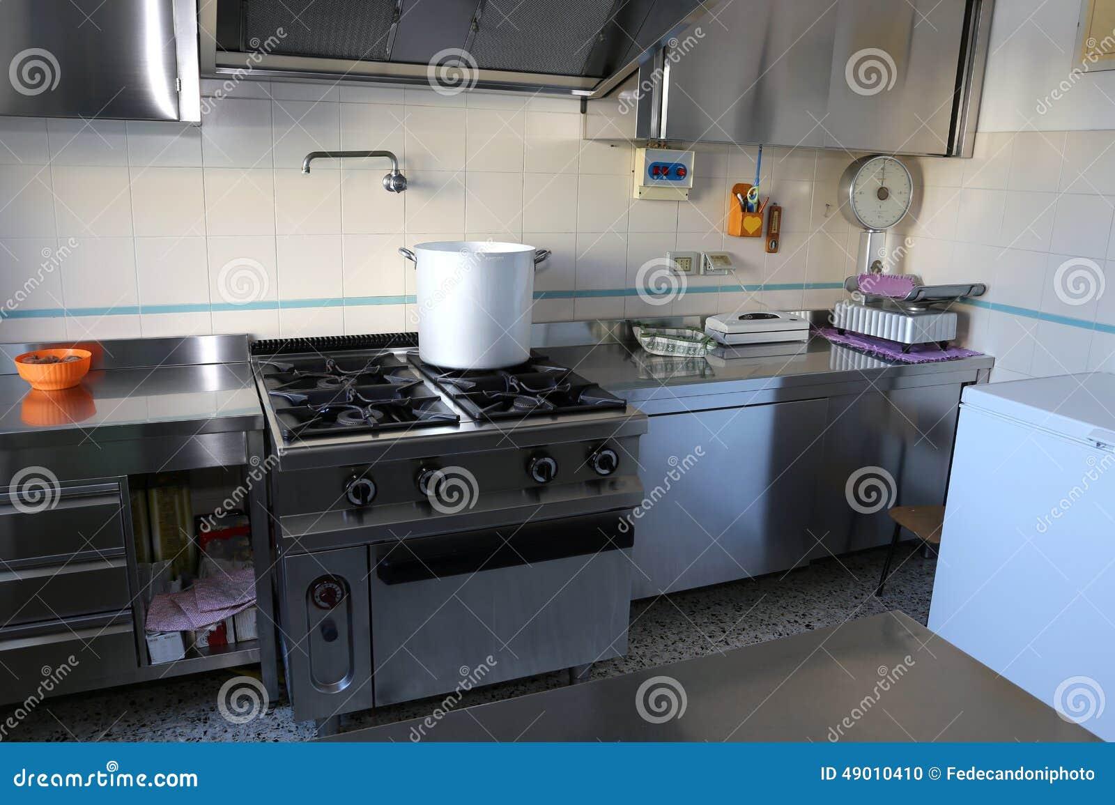 Cozinha Industrial Com O Fog O De G S Grande Foto De Stock Imagem
