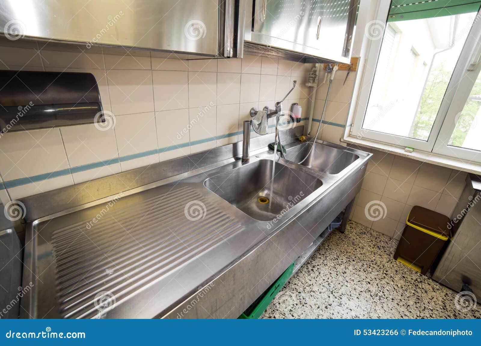 Cozinha Industrial De A O Inoxid Vel Do Dissipador Enorme Com