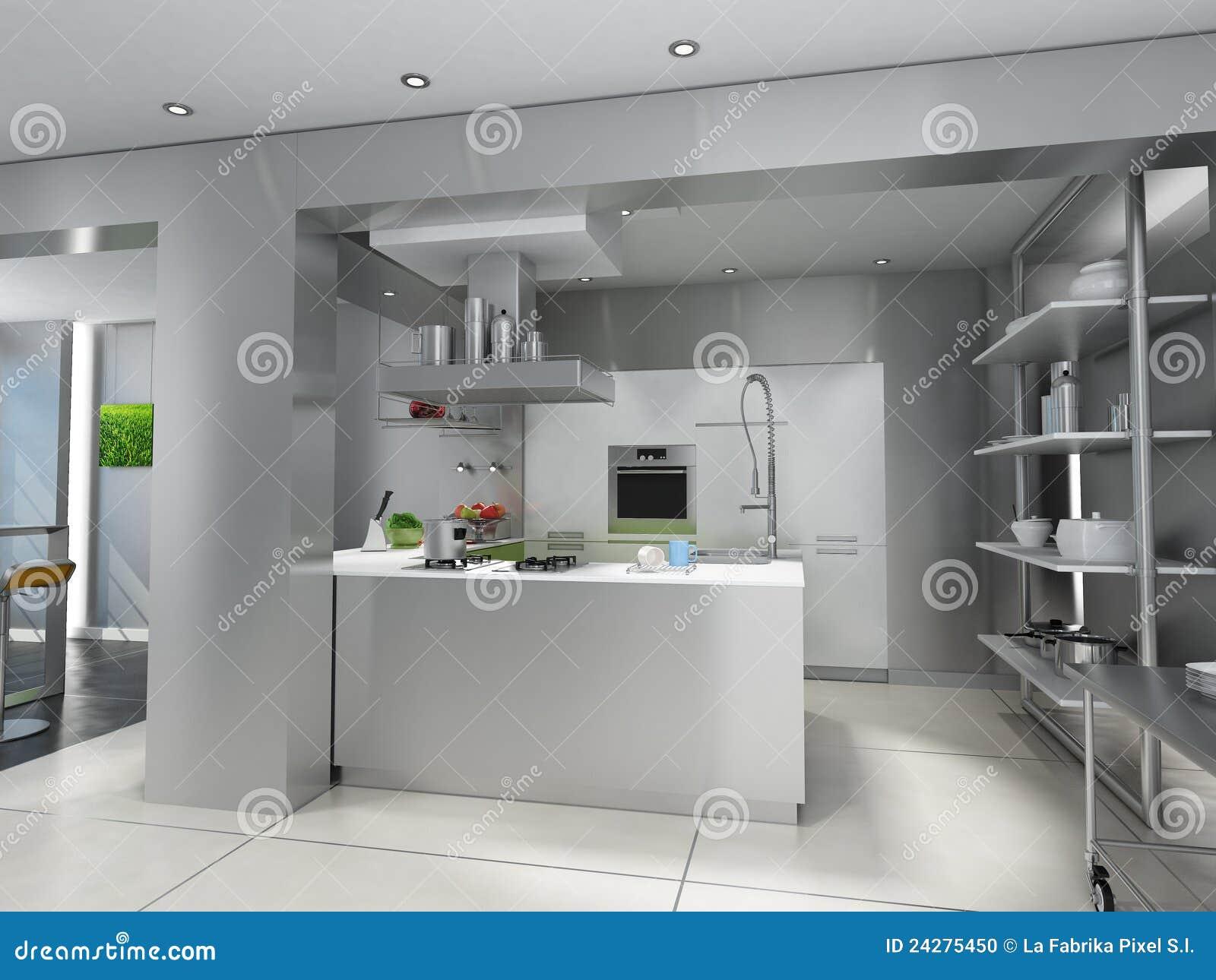 Cozinha Industrial Fresca Ilustra O Stock Ilustra O De Prepara O