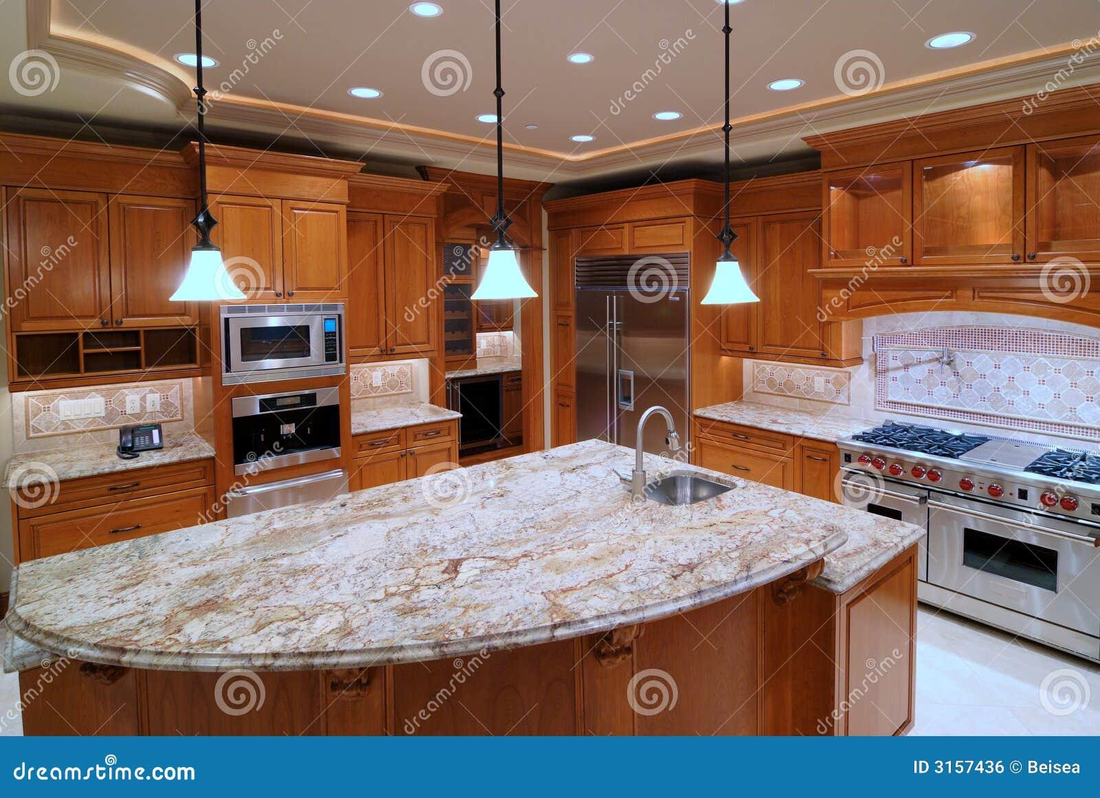 Cozinha Luxuosa Imagem de Stock Royalty Free Imagem: 3157436 #783A1A 1300 960