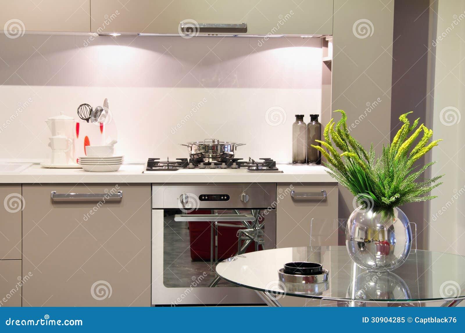 Cozinha Luxuosa Com Decoração Da Flor Foto de Stock Royalty Free  #9EA724 1300 949