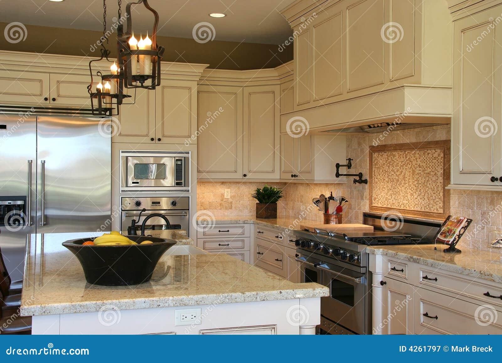 Cozinha Luxuosa Moderna Fotografia de Stock Royalty Free Imagem  #A59926 1300 957