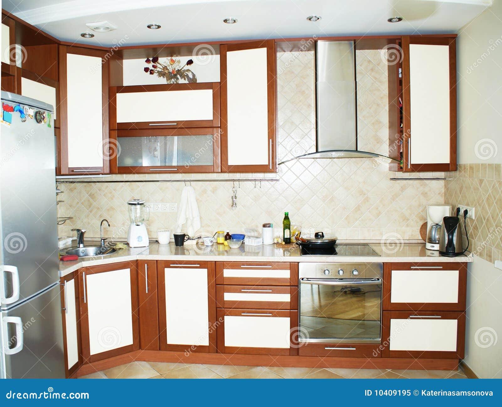Cozinha Moderna Foto de Stock Royalty Free Imagem: 10409195 #793D21 1300 1071
