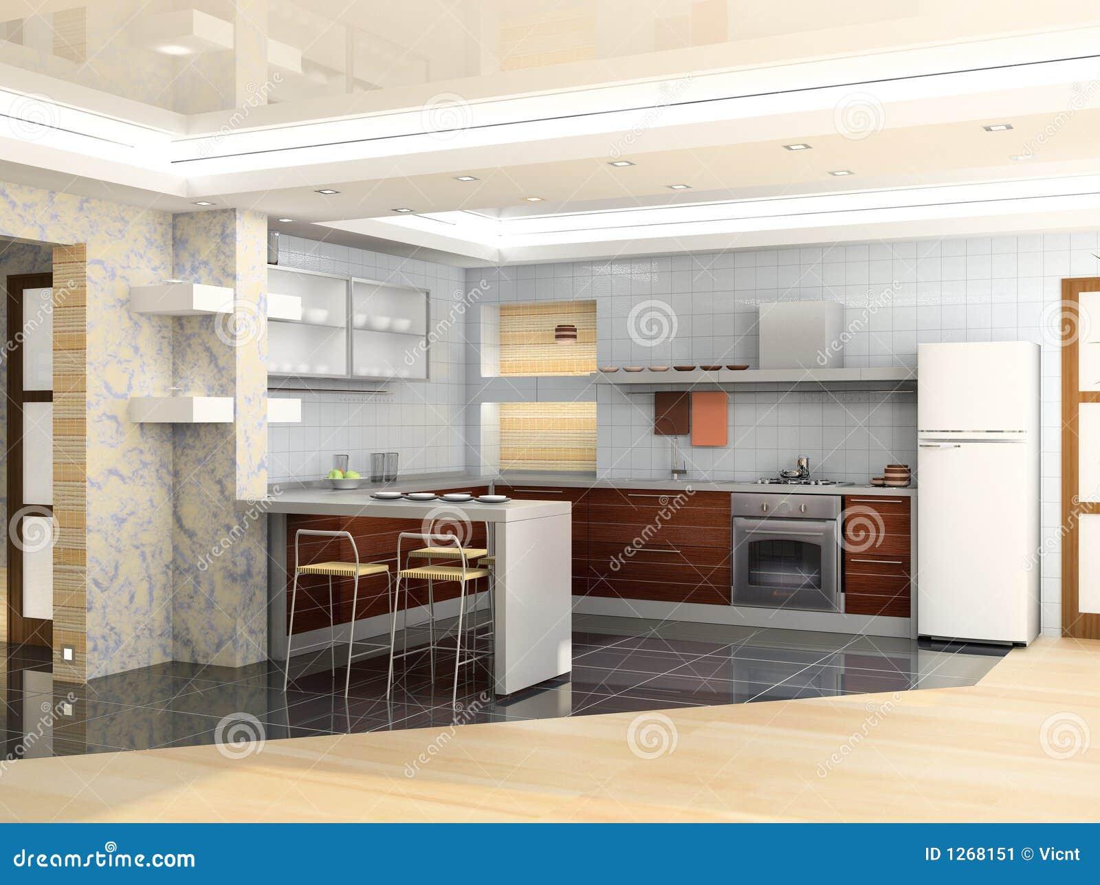 Cozinha Moderna Imagem de Stock Imagem: 1268151 #81A229 1300 1062