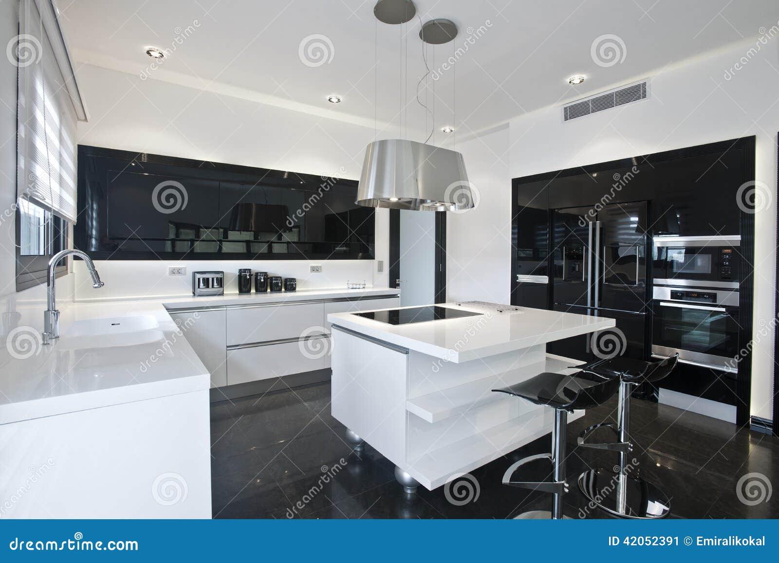 Cozinha Moderna Brilhante Imagem De Stock Imagem De Dom Stico