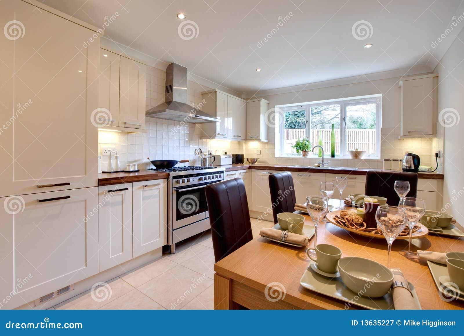 Cozinha Moderna Chique Luxuoso Imagem De Stock Imagem De Tabela