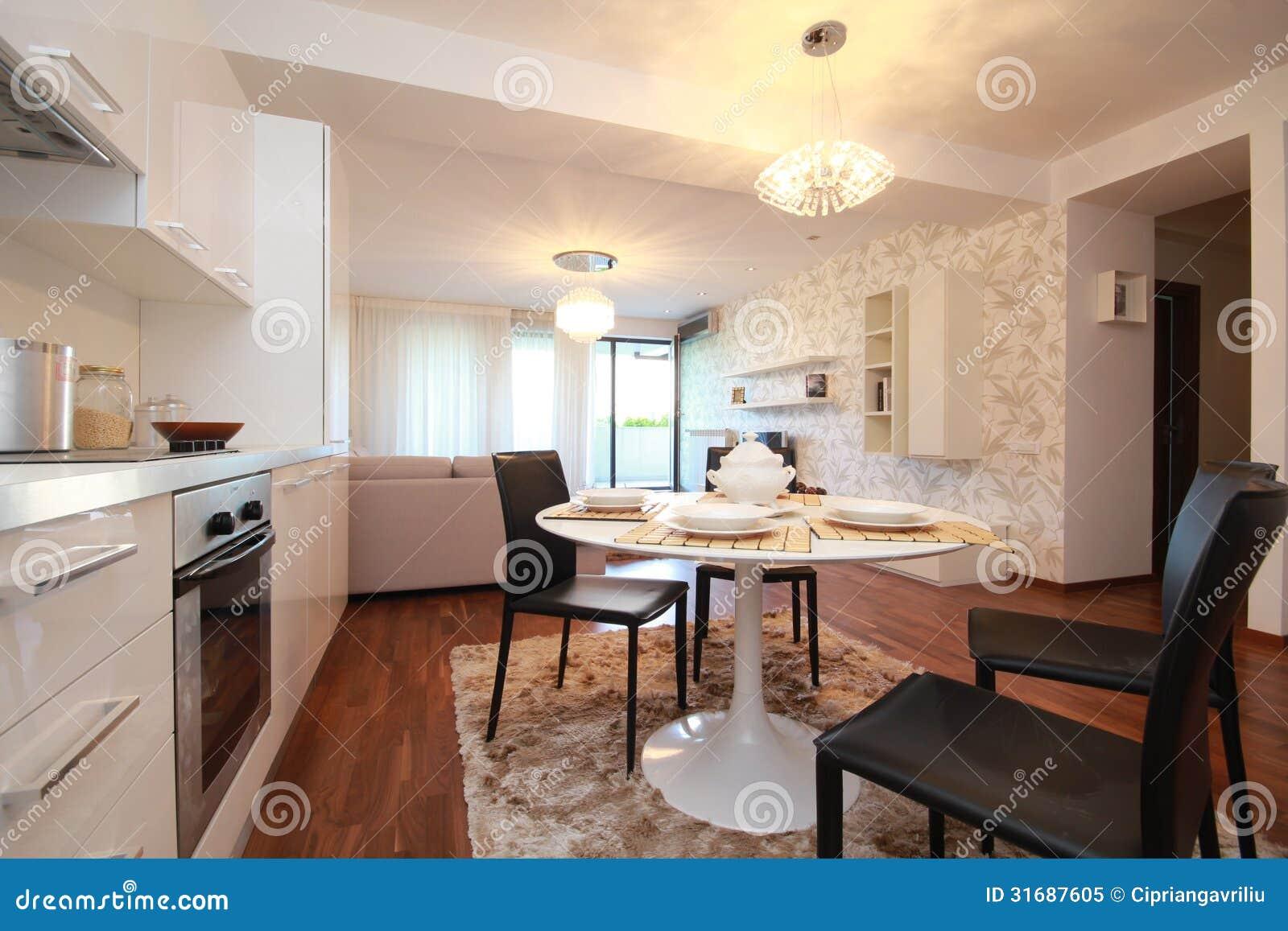 Cozinha Moderna E Cl Ssica Imagem De Stock Imagem De Quarto 31687605