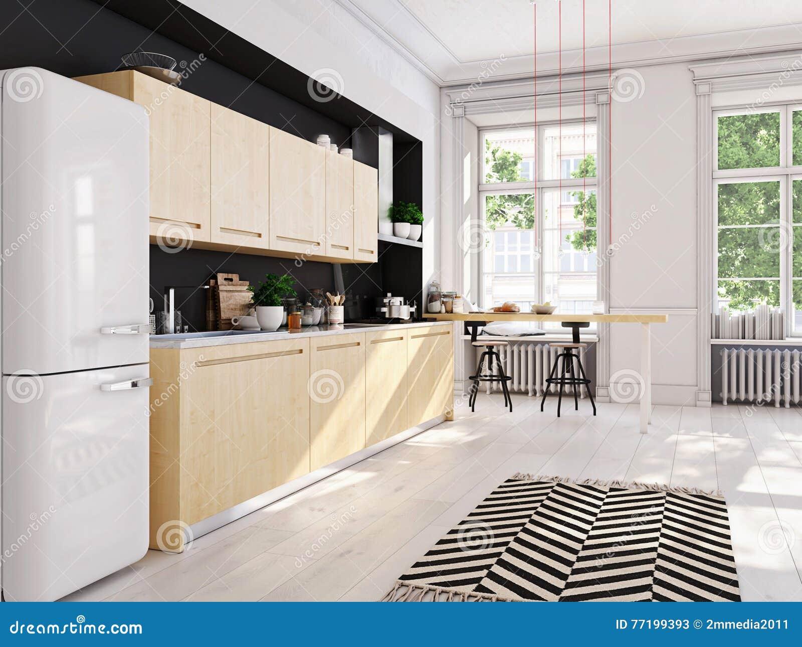 Cozinha Apartamento Moderna Interior Moderno Apartamento Em Estilo