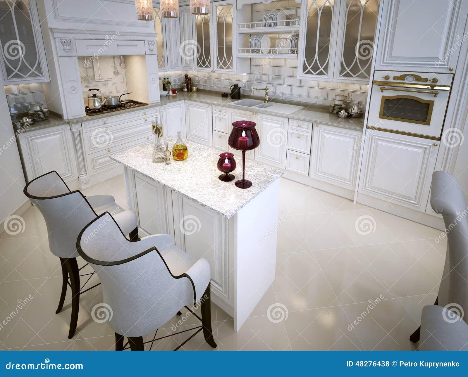 Cozinha No Estilo Clássico Ilustração Stock Imagem: 48276438 #82A328 1300 1065