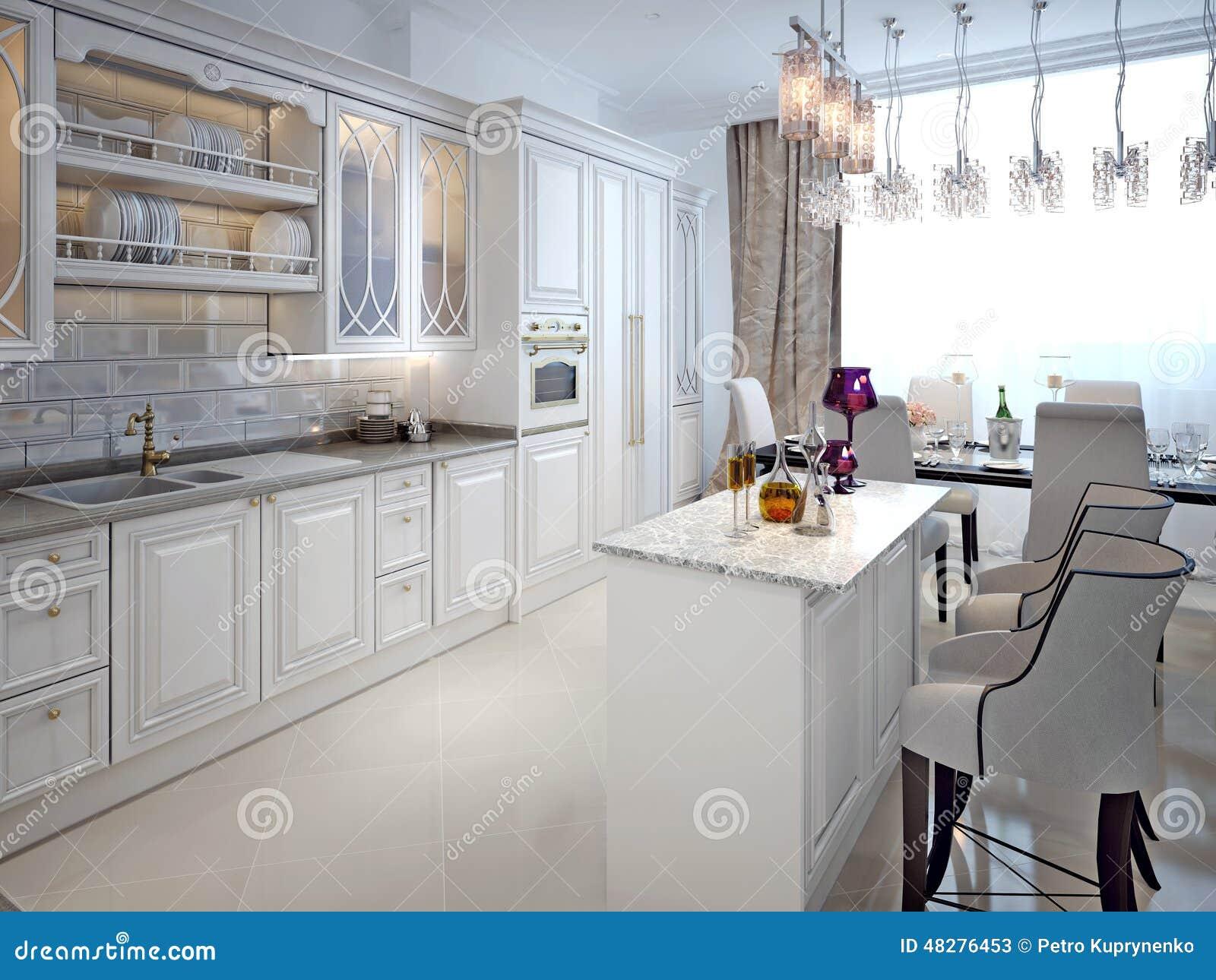 Cozinha No Estilo Clássico Ilustração Stock Imagem: 48276453 #82A328 1300 1065