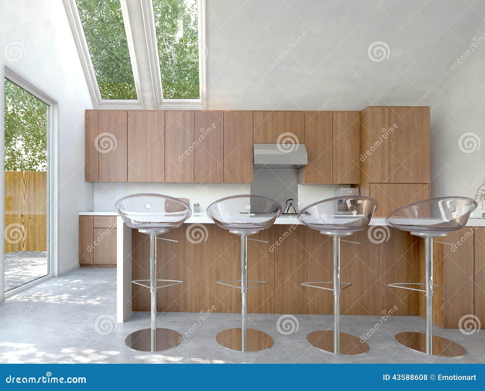 #4C301B Interior de plano aberto compacto pequeno da cozinha ou do kitchenette  1300x1065 px Armario De Cozinha Completo Compacto #2021 imagens
